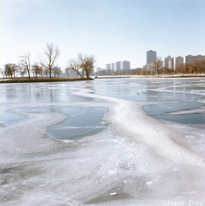 Ice in Montrose Harbor